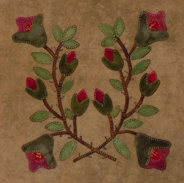 Another favorite from Lisa....woolen folk art applique