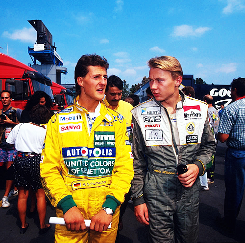 Mika and Schumi in 1991 Michael schumacher, Formula 1