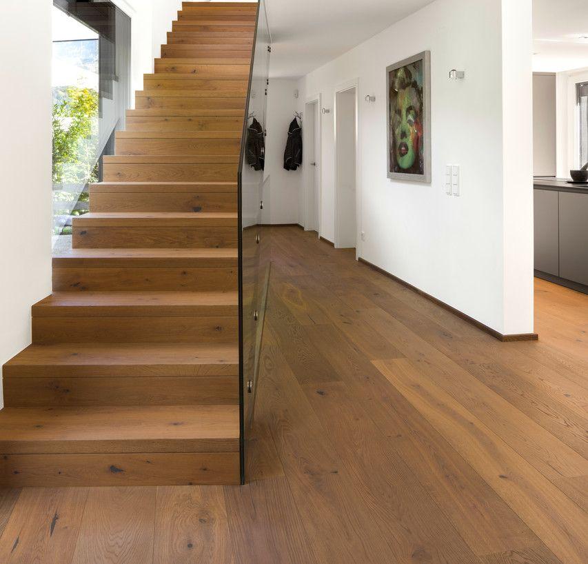 Ein Boden Im Gesamten Haus Privatobjekt Aus Dem Parkettboden Parkett Echtholzparkett