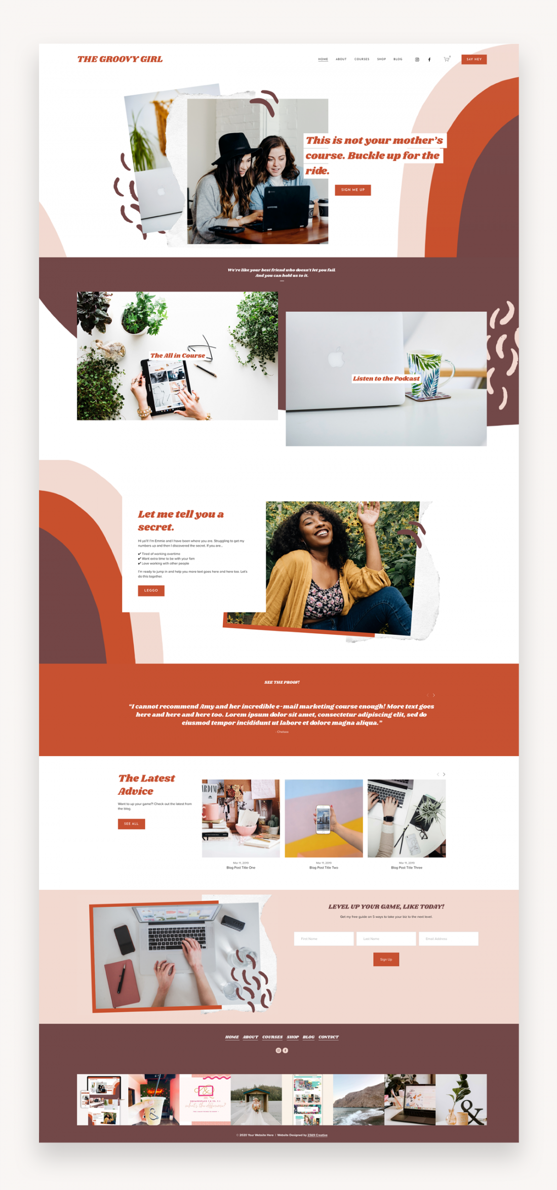 Groovy Girl Squarespace Template Market Wp Themes In 2020 Squarespace Templates Website Design Inspiration Web Design Inspiration
