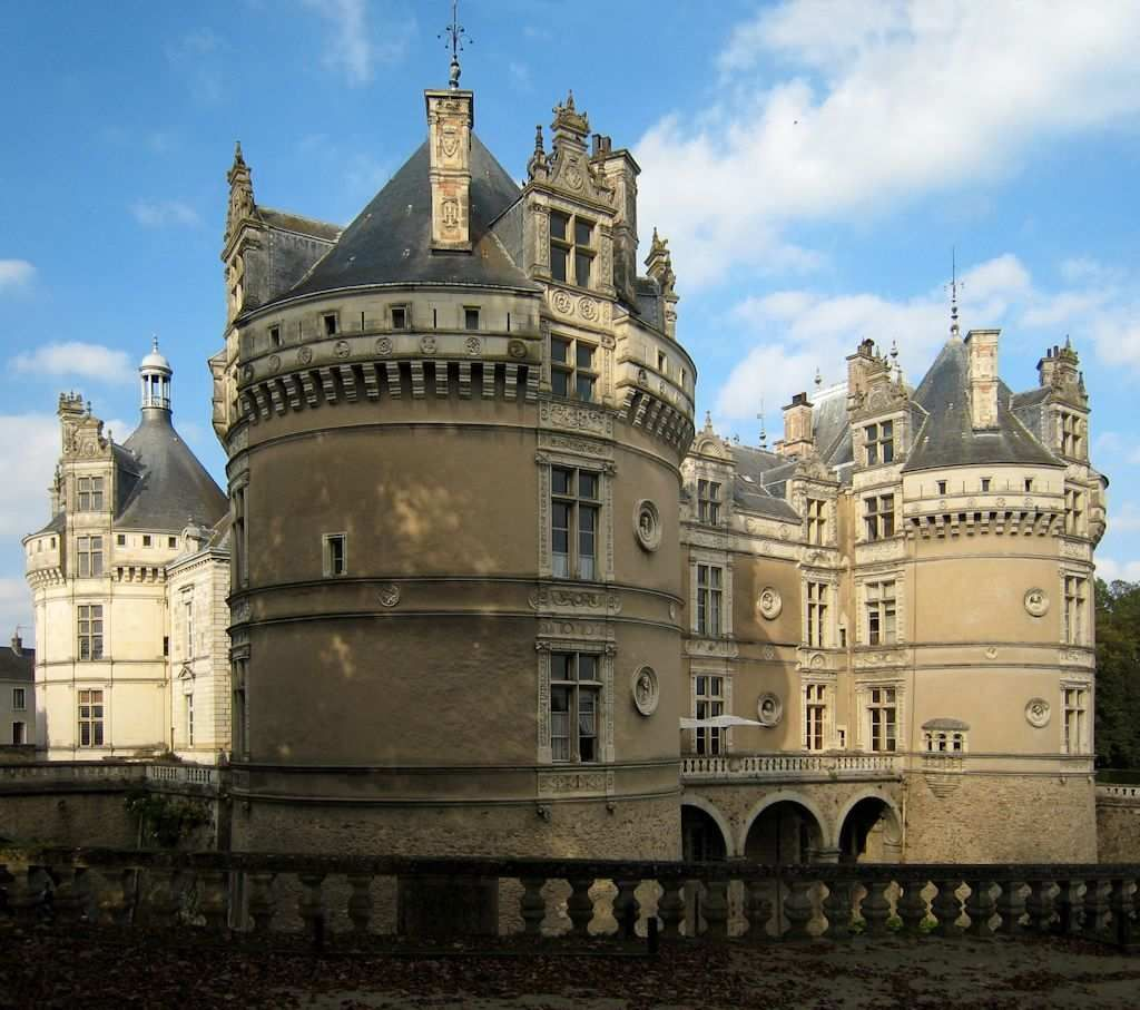O castelo de Le Lude, no vale do Loire, França Chateau