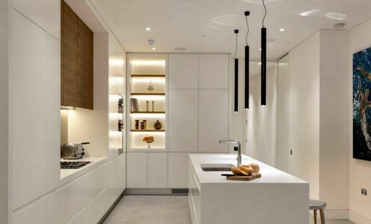 Cuisine en L moderne avec îlot en 108 photos magnifiques Houzz and - Cuisine Moderne Avec Ilot Central