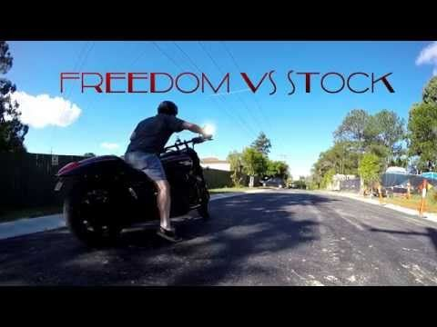 M109R Stock Exhaust VS Freedom Performance Sharp Curve