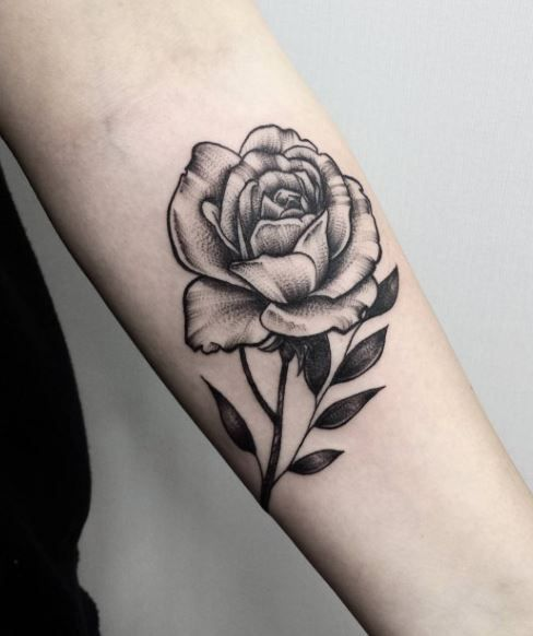 Black And Gray Rose Tattoo Leg Tatty Pinterest Rose Tattoos