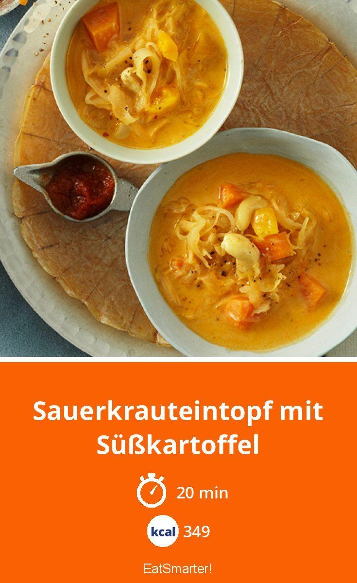 Sauerkrauteintopf mit Süßkartoffel