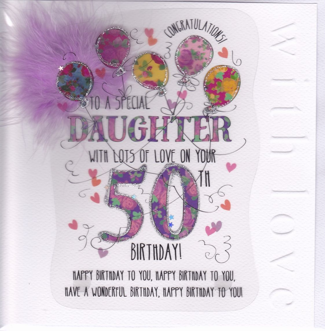 50th birthday cards for daughter