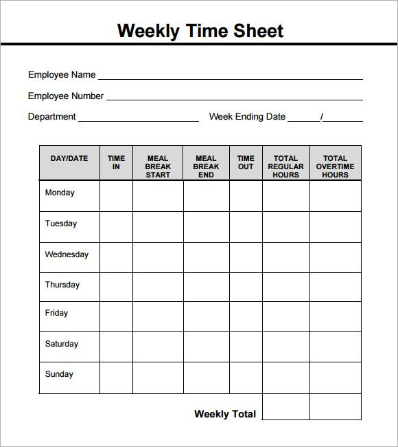 weekly timesheet pdf gardening Pinterest - printable time sheet