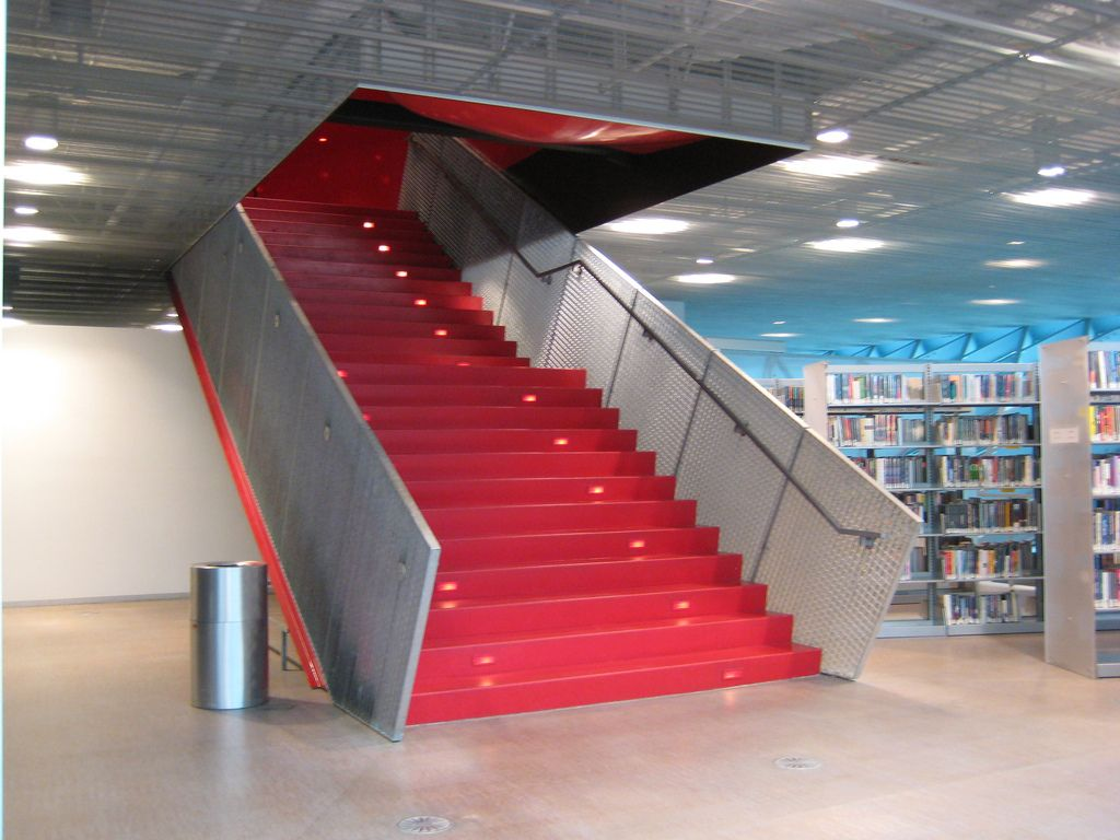 seattle public library STAIR - Google Search | stairs, guardrails