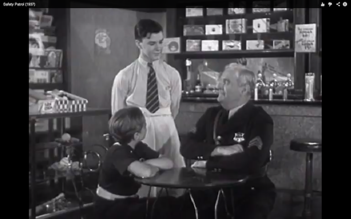 """""""Safety Patrol,"""" in Detroit, a 1937 film that features a"""