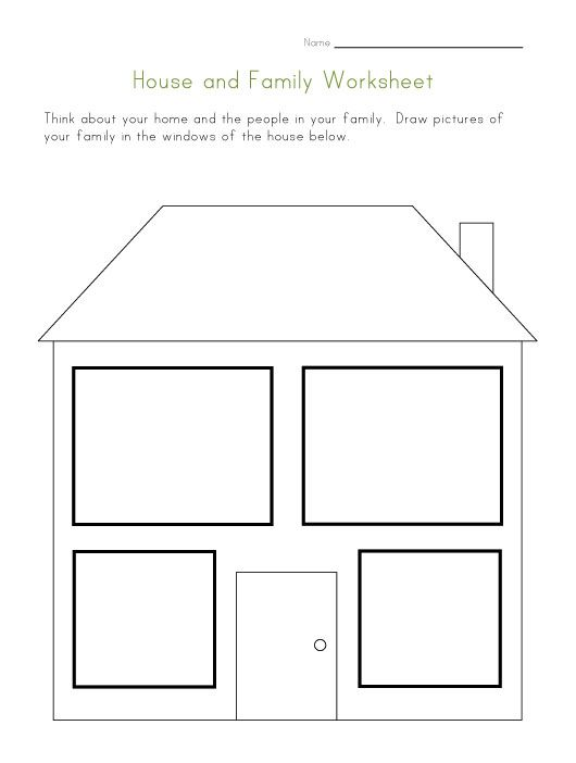 House And Family Worksheet Family Therapy Worksheets, Family Worksheet,  Therapy Worksheets