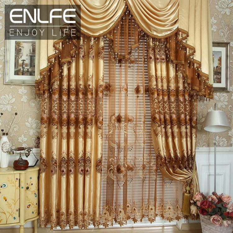 Enlfe New Floral Tulle Door Window Screening Drape Panel Sheer Interesting Luxury Curtains For Living Room Review