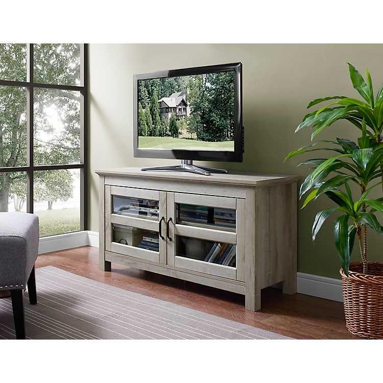 White Oak 2 Door Media Cabinet Tv Stand Wood Tv Media Stands Wood Media Stand