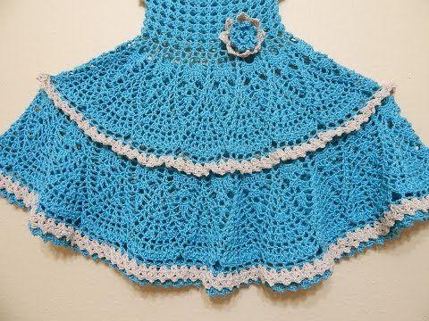 Vestido Olanes para Niña Crochet parte 2 de 3 - YouTube