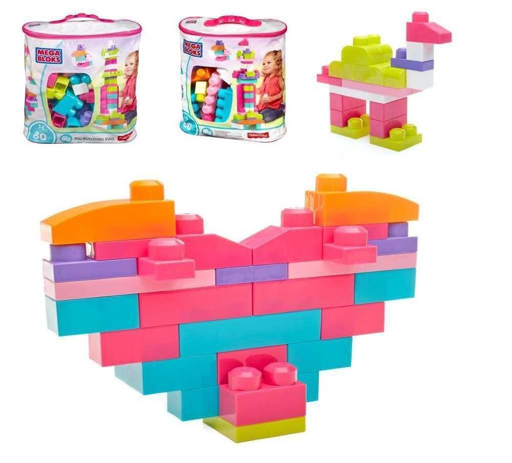 Mega Bloks Let/'s Build Dinos Set 70 Pcs New In Bag Building Blocks Fisher Price