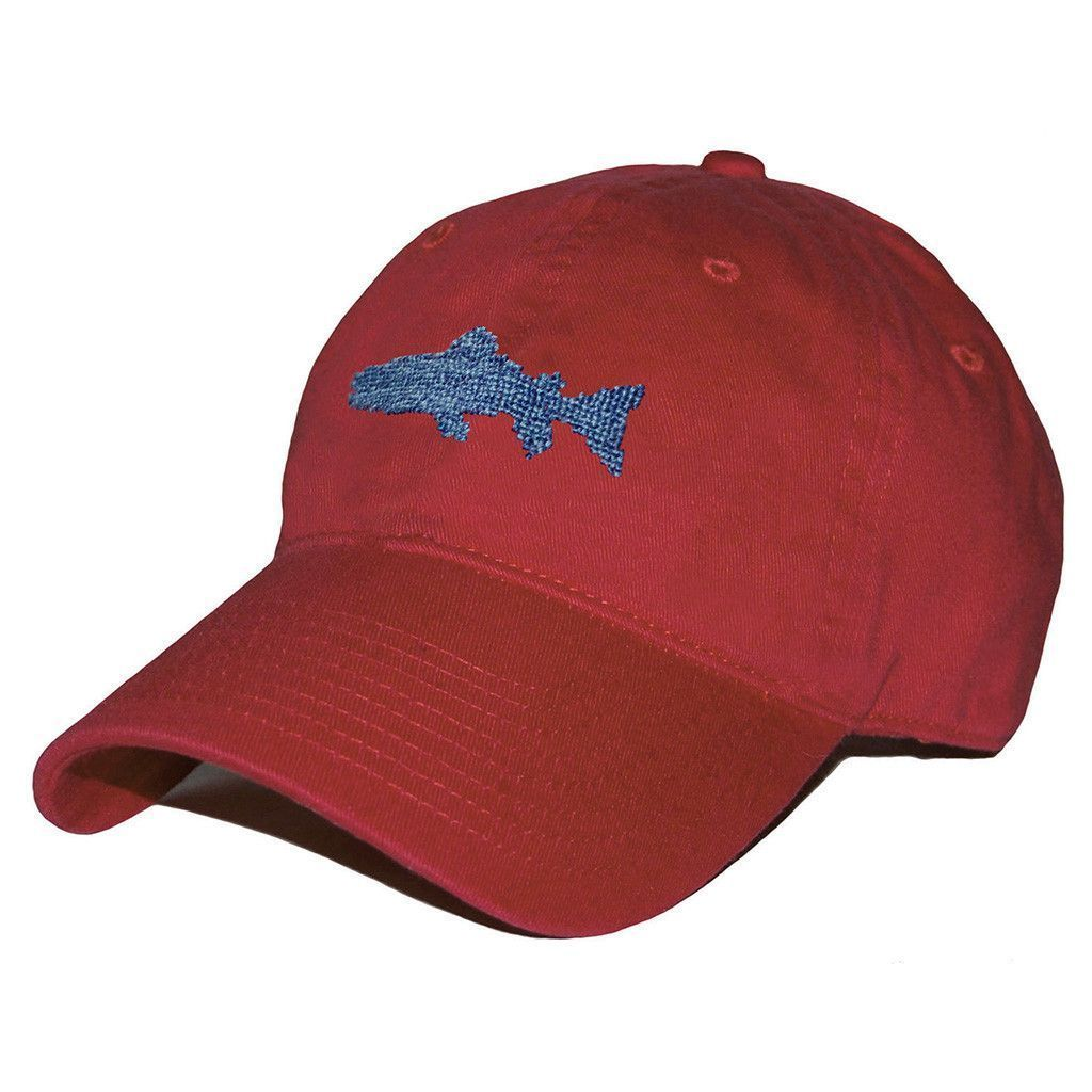 0a8c6df1021 Heathered Trout Needlepoint Hat in Rust Red by Smathers   Branson ...