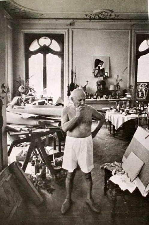 Image result for picasso in his studio