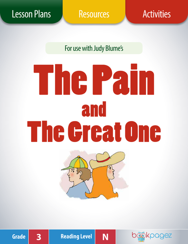 """This set of lesson plans, resources, and activities is for use with """"The Pain and the Great One"""" by Judy Blume."""