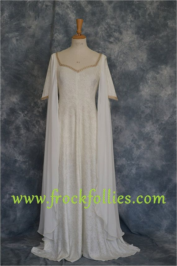 Elvish Wedding Dress,Medieval Gown,Wedding Dress,Hand Fasting Dress ...