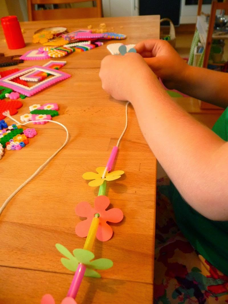 Photo of Yes, dear jasmine, of course we also made the flower chains ourselves …