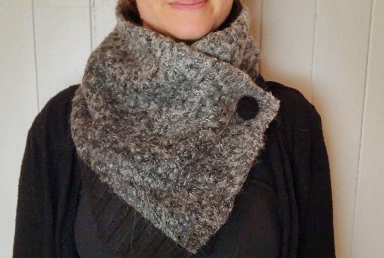 ÉCHARPE, extra confo foulard infini avec bouton-pression, écharpe de hiver  mode infini, snood gris de la boutique Zelecodesign sur Etsy 31fb2826c42