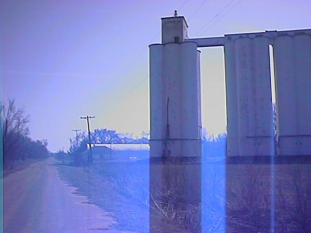 corwin kansas photos | Corwin Elevator Main Street View -Corwin, Kansas