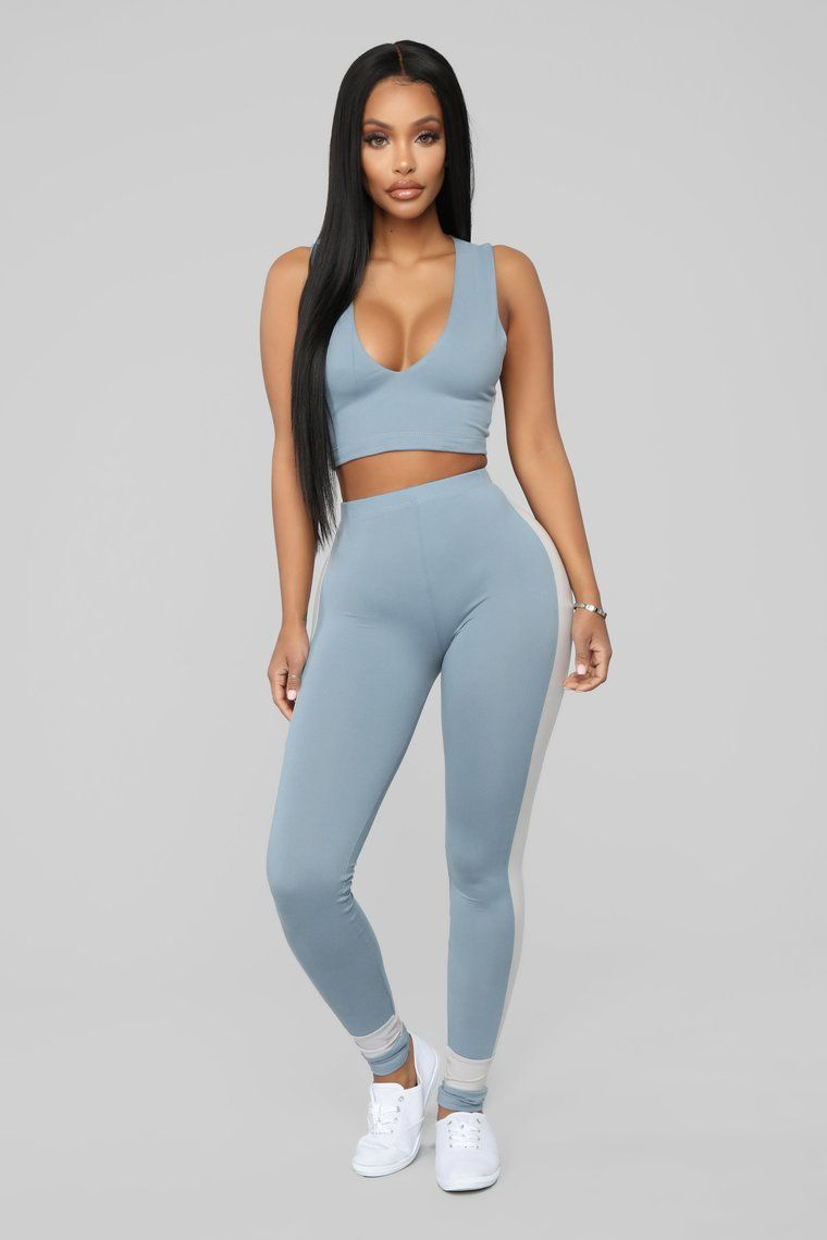 Ayla Lounge Set Blue Sporty Outfits Clothes For Women Cute Outfits