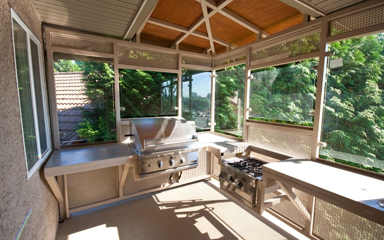 Enclosed Outdoor Kitchen Pictures Outdoor Kitchen Kitchen Pictures Backyard Kitchen