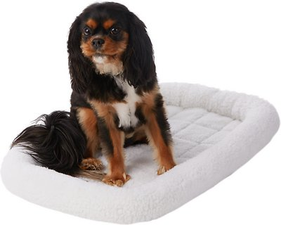 Frisco Quilted Fleece Pet Bed & Crate Mat, Ivory, 30in