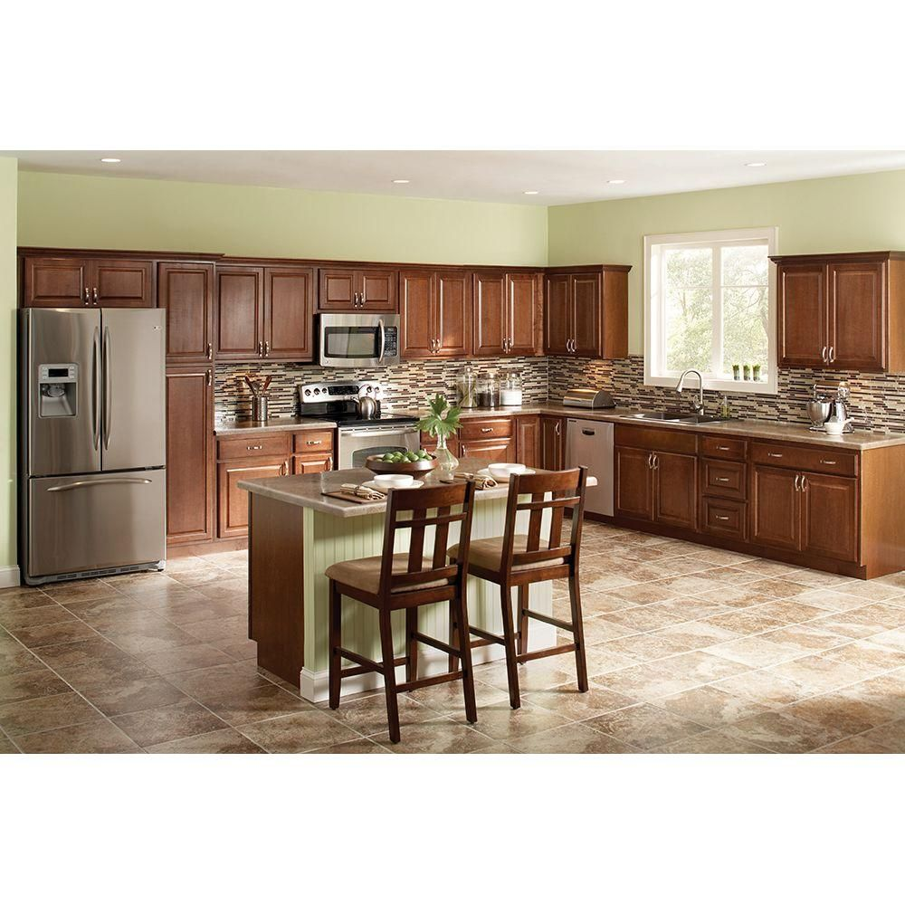 Kitchen Cabinets Home Depot: Hampton Bay Hampton Assembled 18x84x24 In. Pantry Kitchen