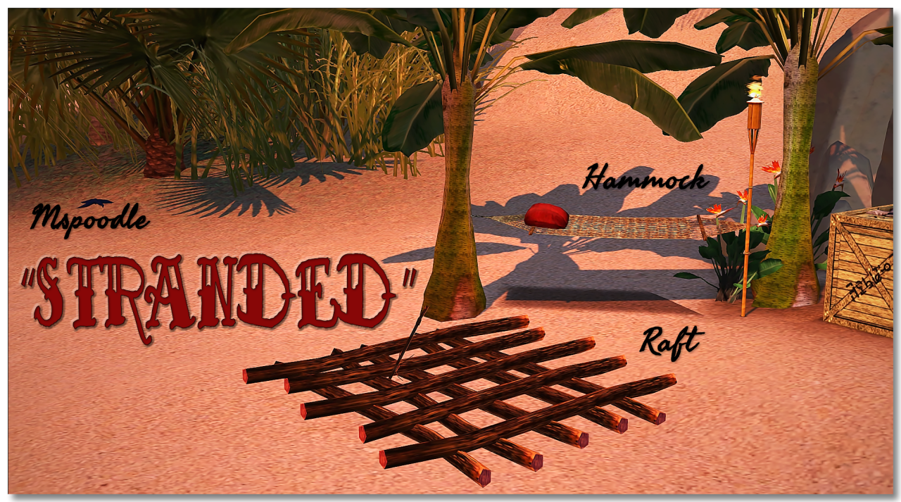 """mspoodle1 """"Stranded Sims 3 Raft and hammock for your"""