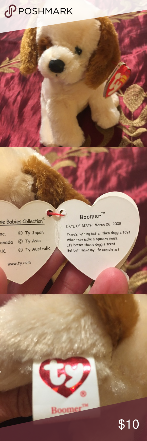 Ty Beanie Baby Boomer Retired mint condition Mint condition with mint tag Ty  Other 24dcbb8741