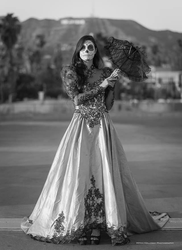 Day of the dead 2013 dia de los muertos hollywood a for Sugar skull wedding dress