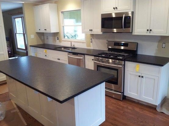 Black Pearl Leather By Art Granite Countertops Inc 1020 Lunt Ave Unit F Schaumburg Il 6 Leather Granite White Cabinets Black Countertops Home Kitchens