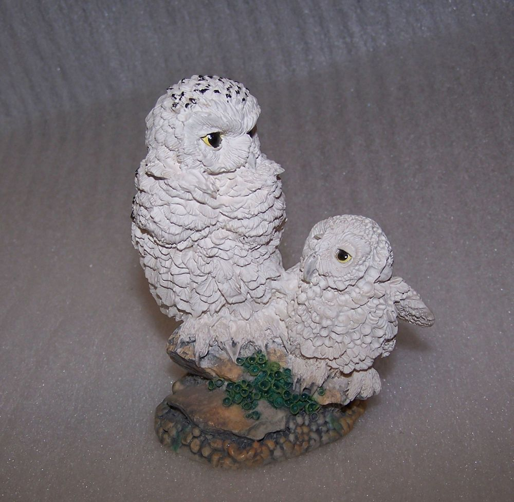 Hamilton Collection A Watchful Eye Figurine Nesting Instincts Owls