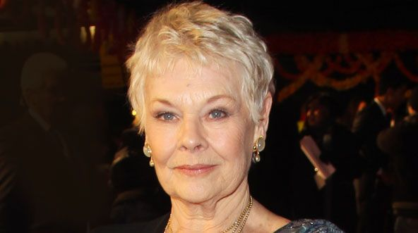 Groovy Dame Judi Dench Sports 007 Tattoo At The Premiere Of The New James Hairstyle Inspiration Daily Dogsangcom