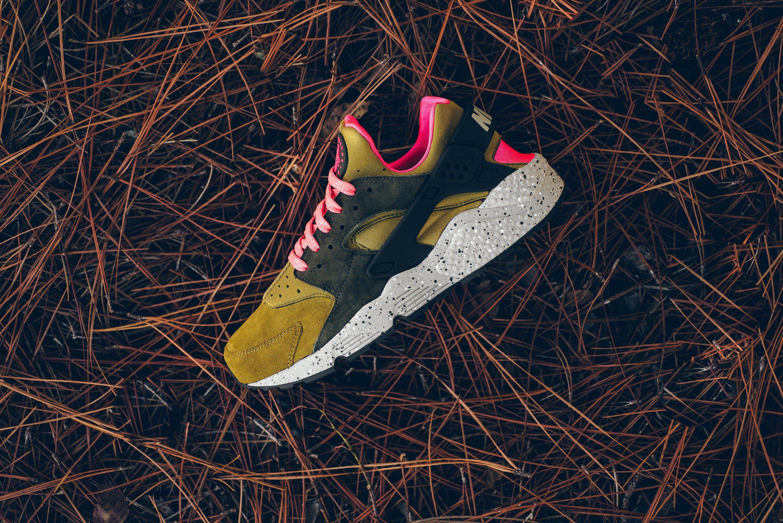 b80f0e7253edf6 Nike Air Huarache Run Premium - Desert Moss Cobblestone from Sneaker  Politics