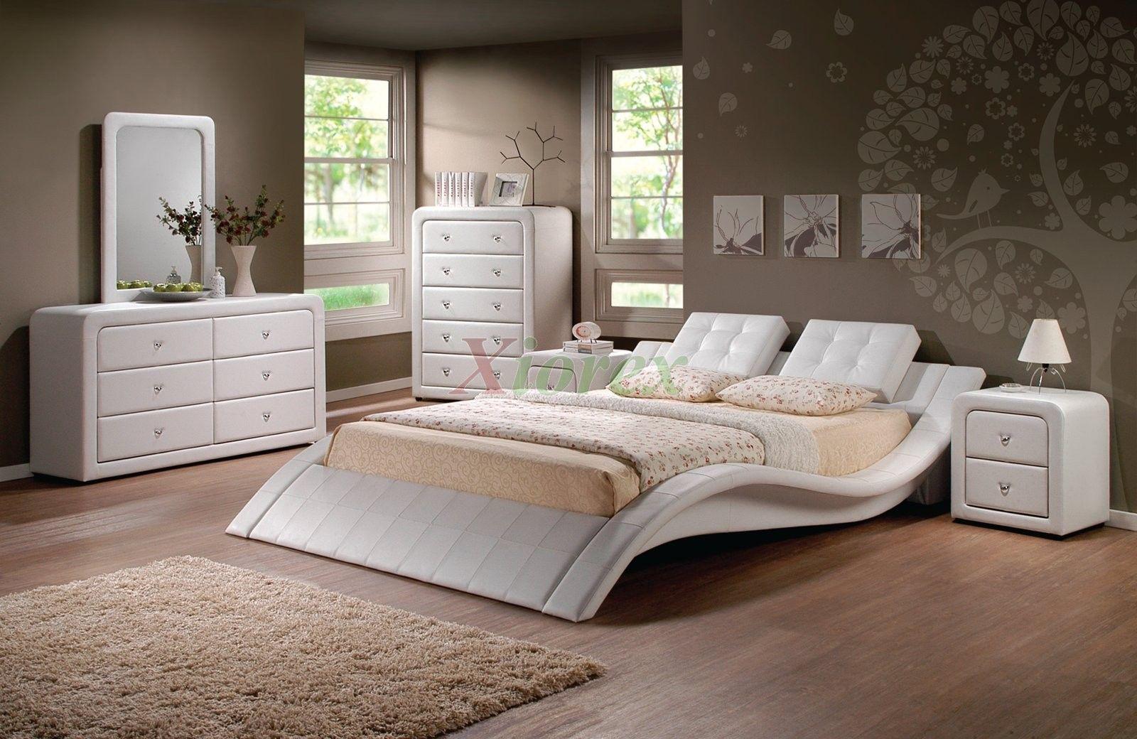 Bedroom Furniture Set Modern Upholstered Platform Bedroom Furniture Set 152 Xio In 2020 Buy Bedroom Furniture Interior Decoration Bedroom Bedroom Collections Furniture
