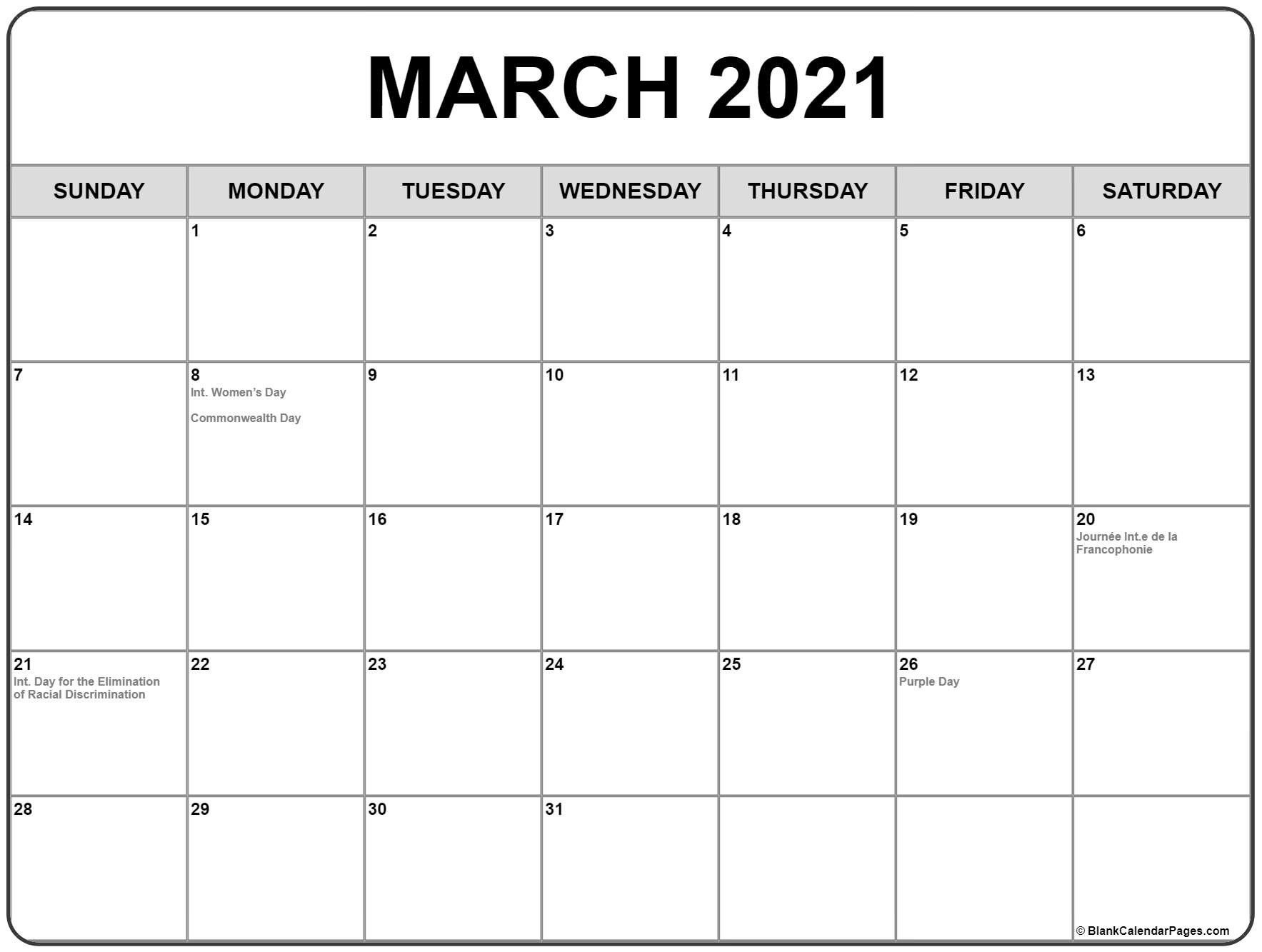 Printable Calendar 2021 Canada Full - Allowed in order to ...