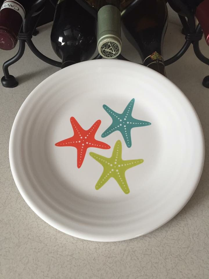 Fiesta® Dinnerware  Starfish  Luncheon Plate made exclusively for Belk Department Stores by Homer & Fiesta® Dinnerware