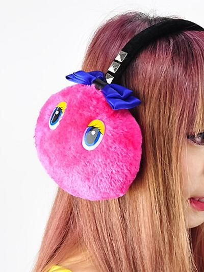 Monster Fur Ear Muff Pink / See more at http://www.cdjapan.co.jp/apparel/new_arrival.html?brand=LIS #harajuku