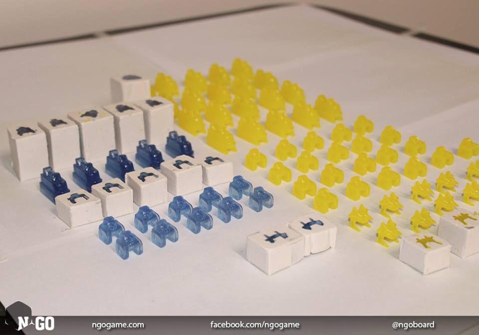 Intimidante HAWKLAND. El ejercito azul realizado con resina cristal. http://ngogame.com/