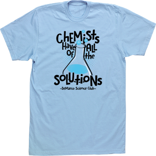 chemists solutions science club t shirt custom design high