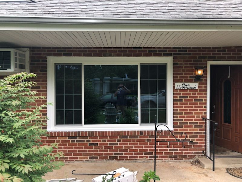 Our Crew Installed This New Flat Bay Window 3 Lite Slider With Grids On The Ends On This Home In Folcroft Pa Windows Slider Window Windows And Doors