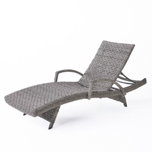 Wicker Armed LoungeGrey Outdoor Framed Keira Aluminum Chaise rBWQdCEoxe