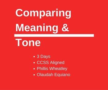 006 Comparing meaning & tone Phillis Wheatley & Olaudah
