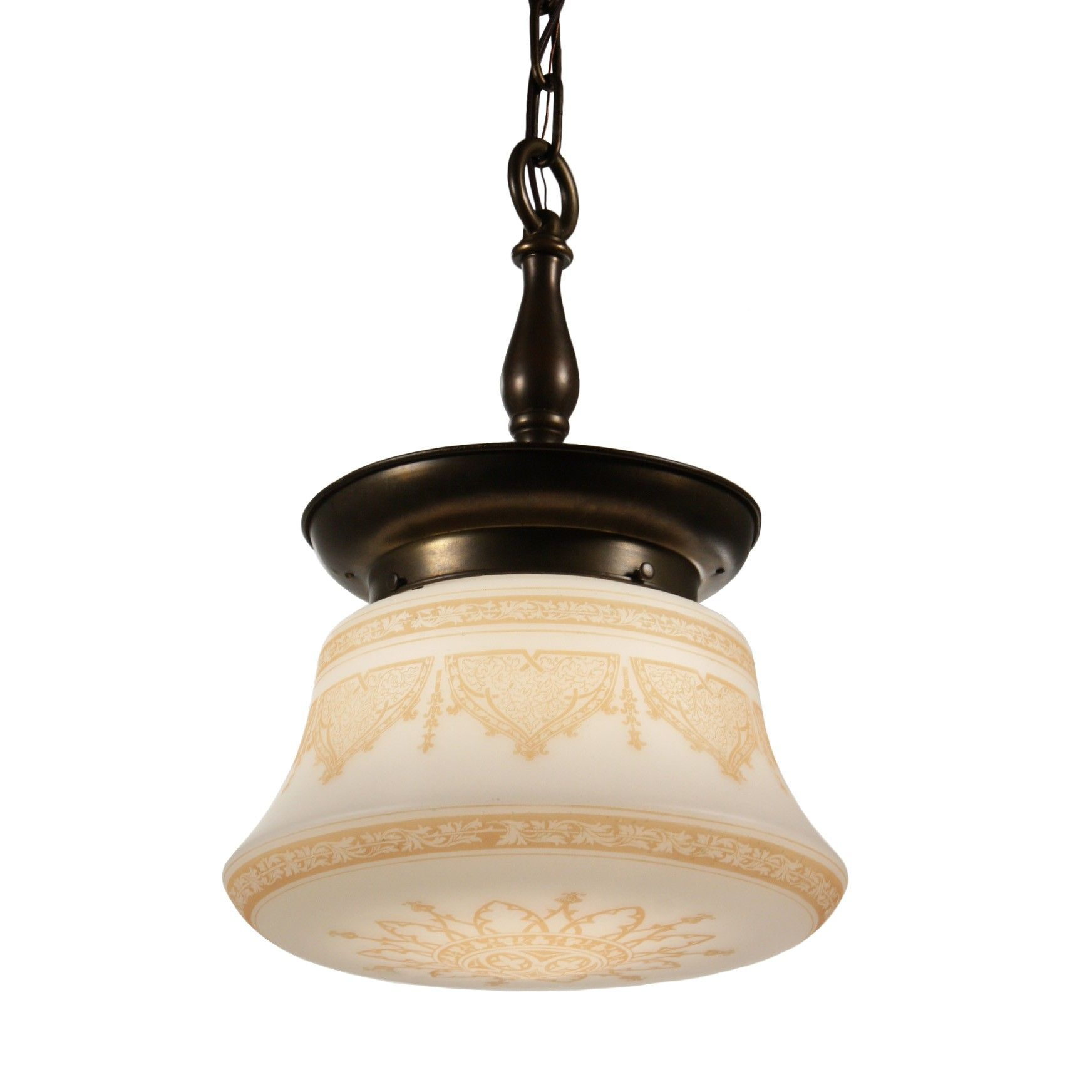 neoclassical lighting. Antique Neoclassical Pendant Light With Original Shade - Preservation Station\u2026 Lighting L