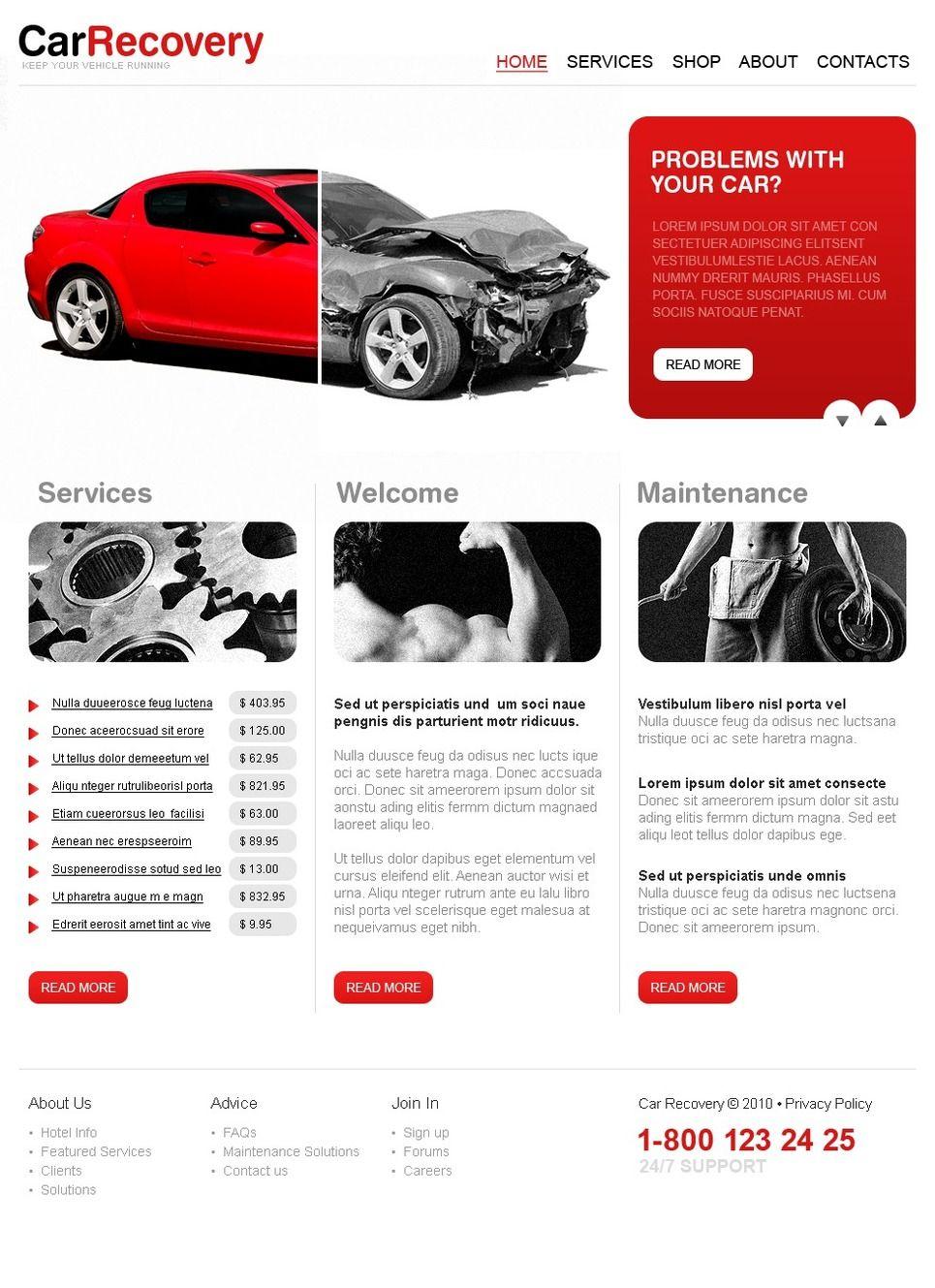 car repair psd template advertising poster pinterest psd