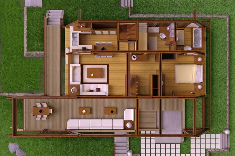Modern Wood House Plans Tradition In Contemporary Lines Houz Buzz Modern Wooden House House Window Design Wooden House Design Small wooden house design plan