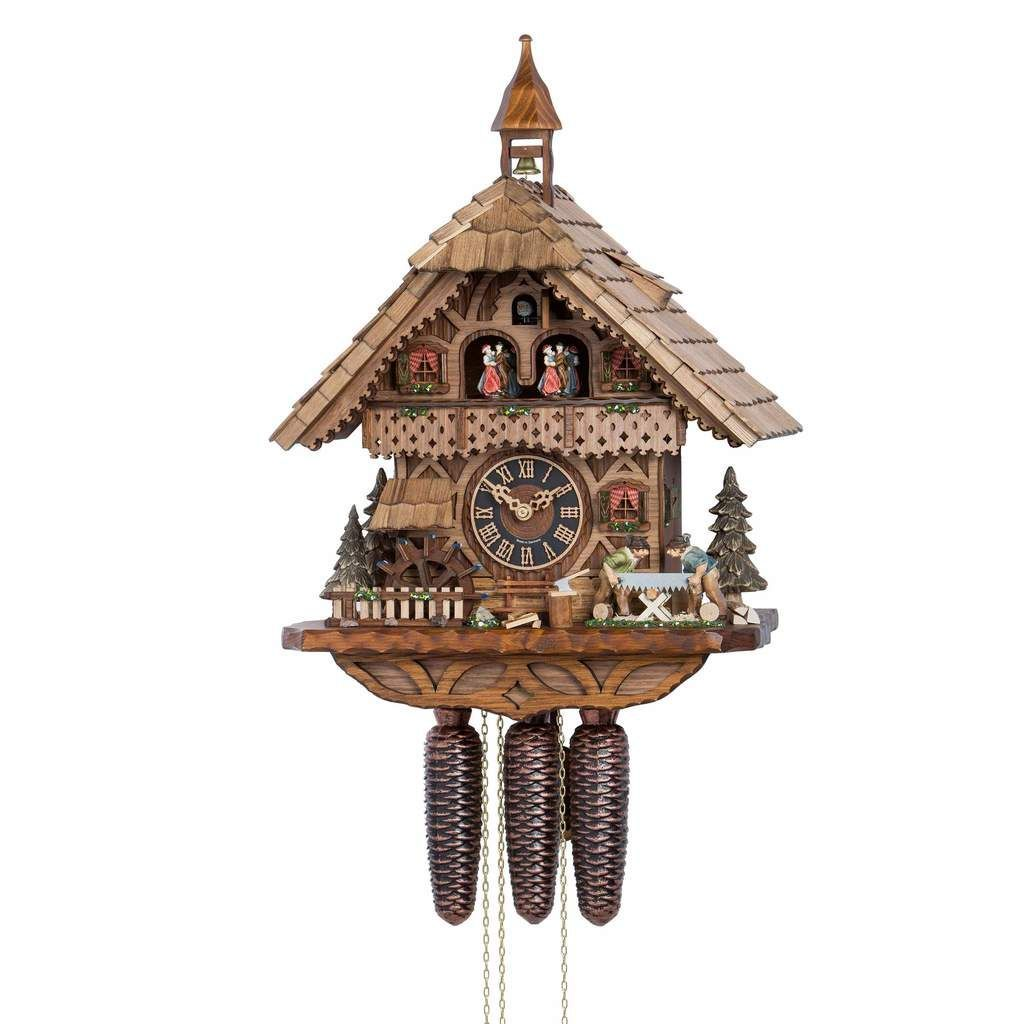 Hones 8 Day Movement Wood Sawyer Chalet Cuckoo Clock 19 2020
