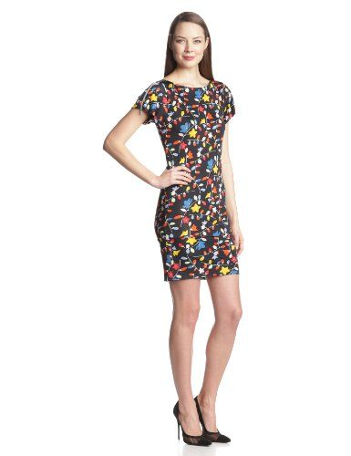 Women's Floral Allover Print Tee Dress
